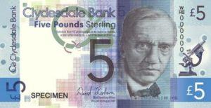 Alexander Fleming Scottish bank note
