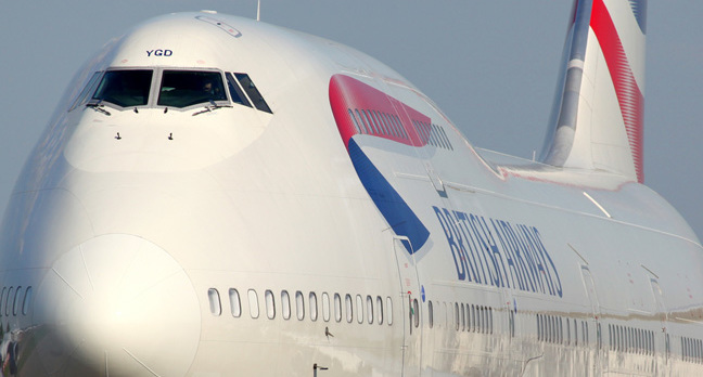 Immigration myth: image of a British Airways jumbo jet.