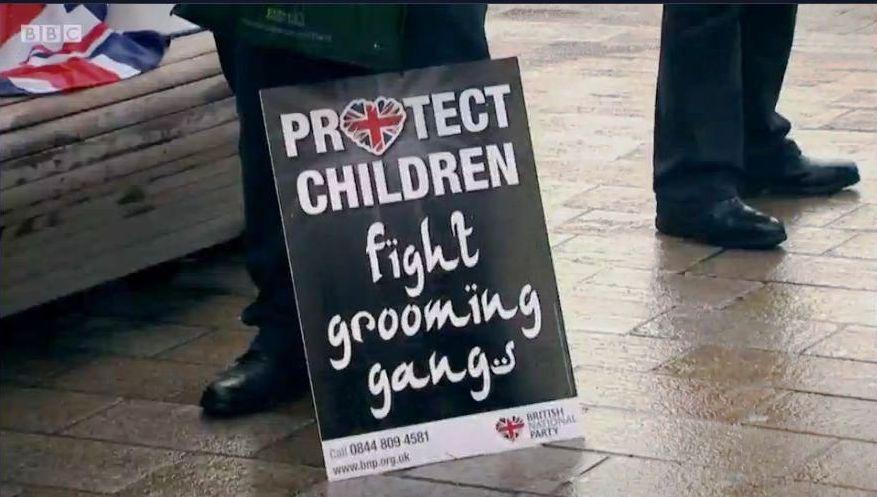 The Betrayed Girls: BNP placard