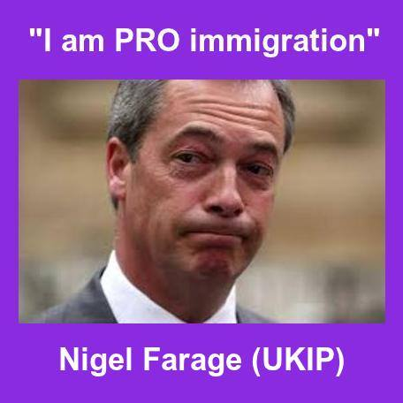 UKIP immigration - Nigel Farage said he is pro immigration
