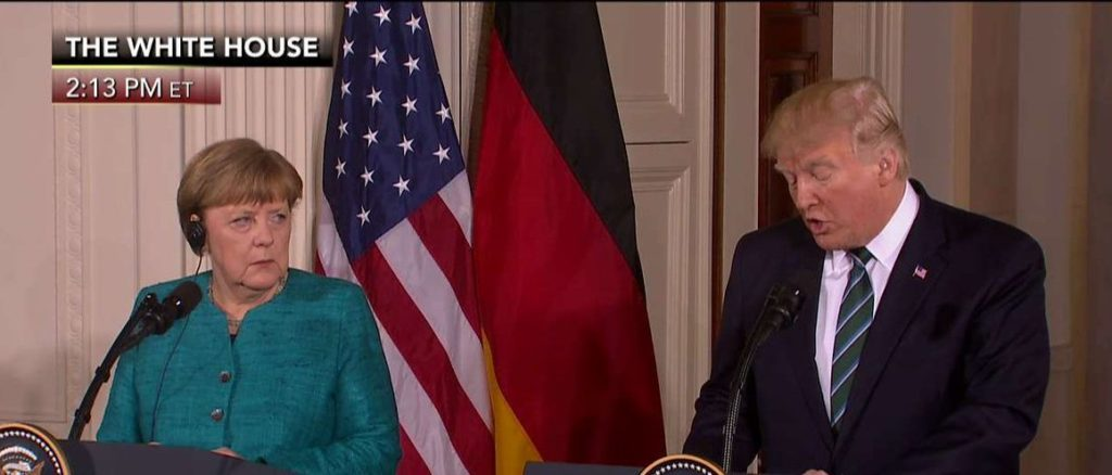 UKIP immigration. President Trump and Angela Merkel