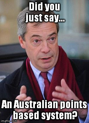 UKIP immigration and the Australian points based system