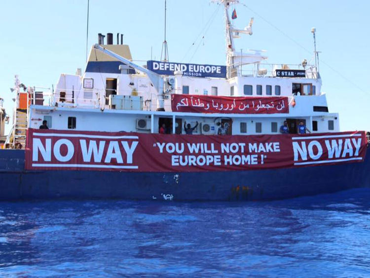 The Defend Europe ship