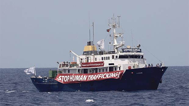 Defend Europe Ship: Stop human trafficking!