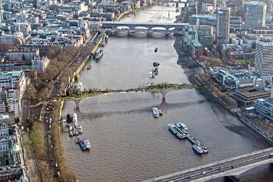 London Garden Bridge: There is no need for a bridge on the Thames between Waterloo Bridge and Blackfriars Bridge.