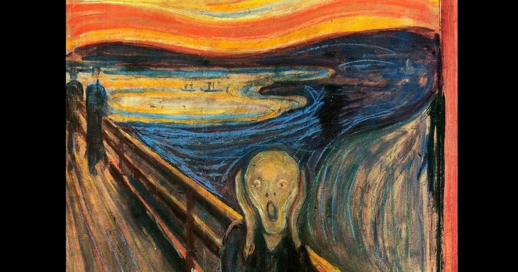 The Far Left mental state is exemplified by this famous painting, The Scream by Edvard Munch, 1893