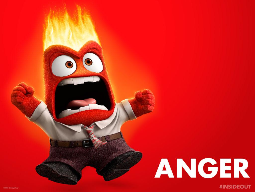 Far left: horrible cartoon of am angry man