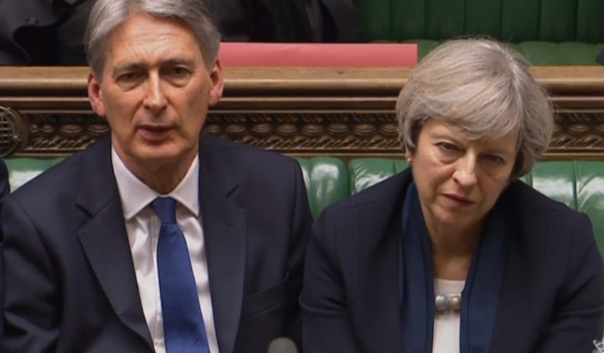Philip Hammond and Theresa May> Who's really in charge of Brexit?