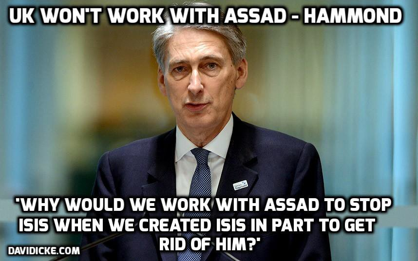 Philip Hammond wanted to get rid of President Assad of Syria