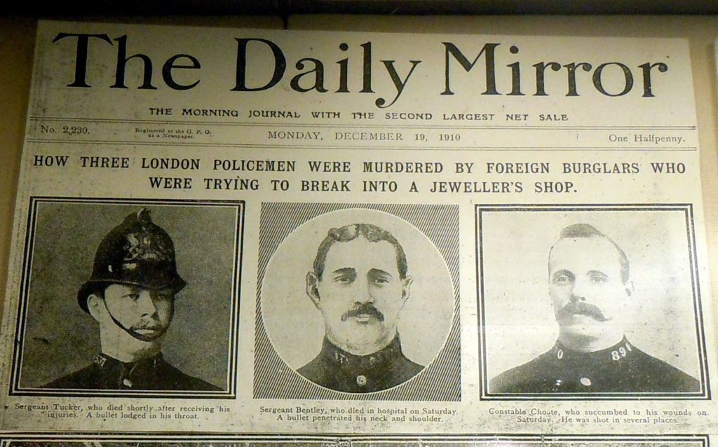 Anarchy in the UK (1909-1911): Three London policemen murdered by the anarchists