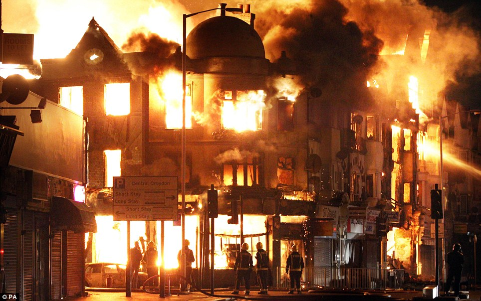 Left-wing politicians have cynically sought to make political capital out of the London riots, blaming government cuts for the orgy of violence.