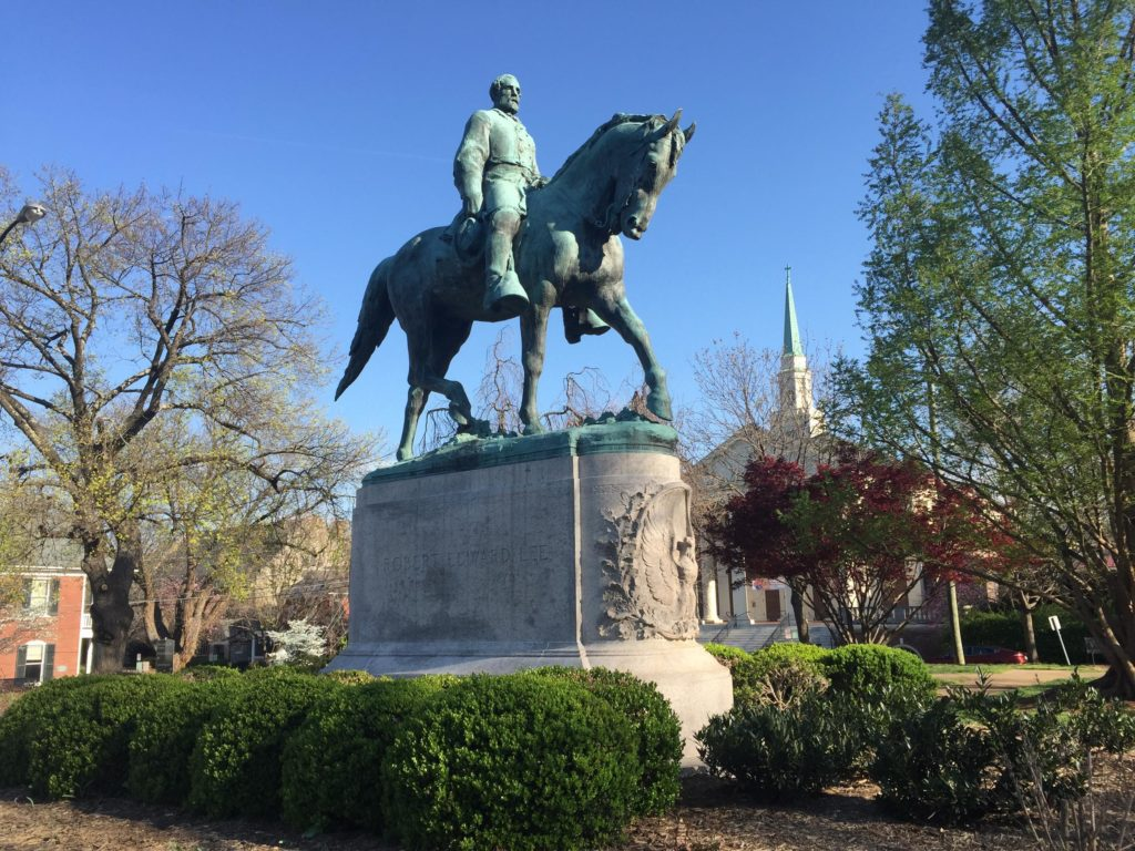 American Civil War: The Statue of Robert E. Lee in Charlottesville, Virginia
