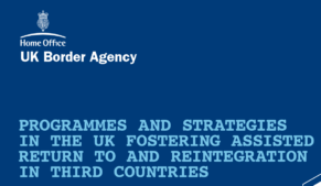 Repatriation is funded by the Home Office UK Border Agency