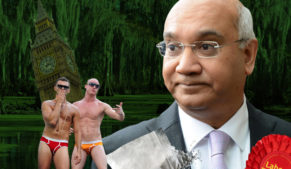 Labour MP Keith Vaz with male prostitutes