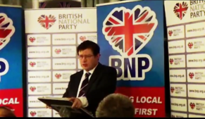 David Furness delivers speech against at BNP conference