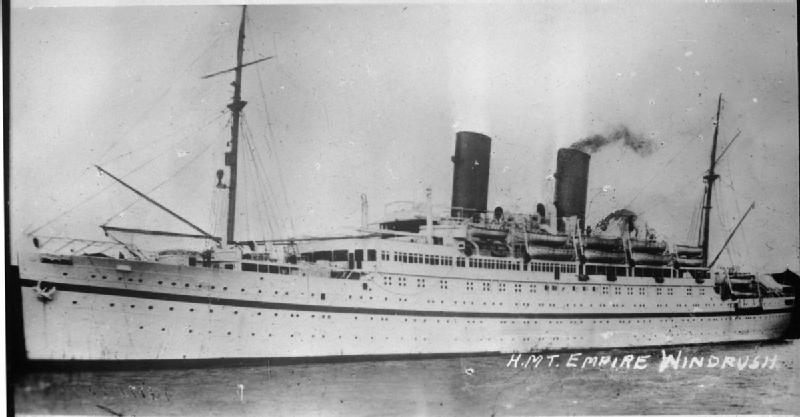 The Empire Windrush ship