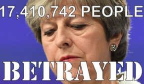 Don't feel sorry for Theresa May. She betrayed over 17 million Brexit voters.