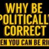 Stop political correctness. The word stop in large white lettering against a red background